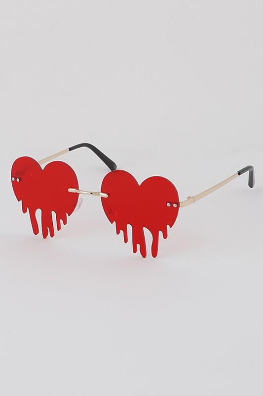 Heart Drip Sunglasses