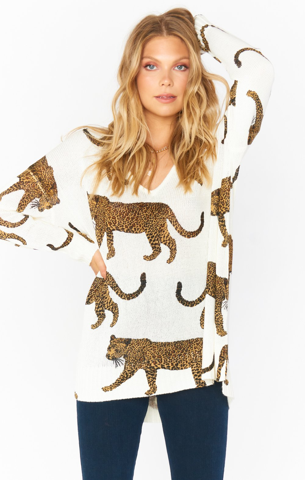 Tossed Leopard Knit