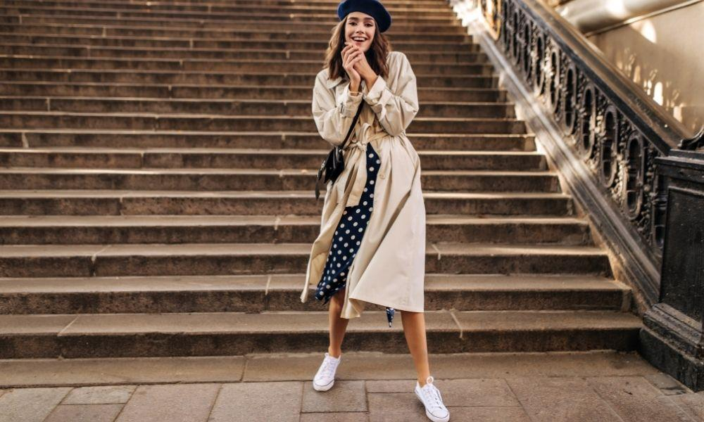 Stylish Ways to Wear Sneakers With Skirts This Fall