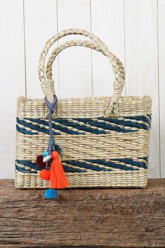Striped Handwoven Tote