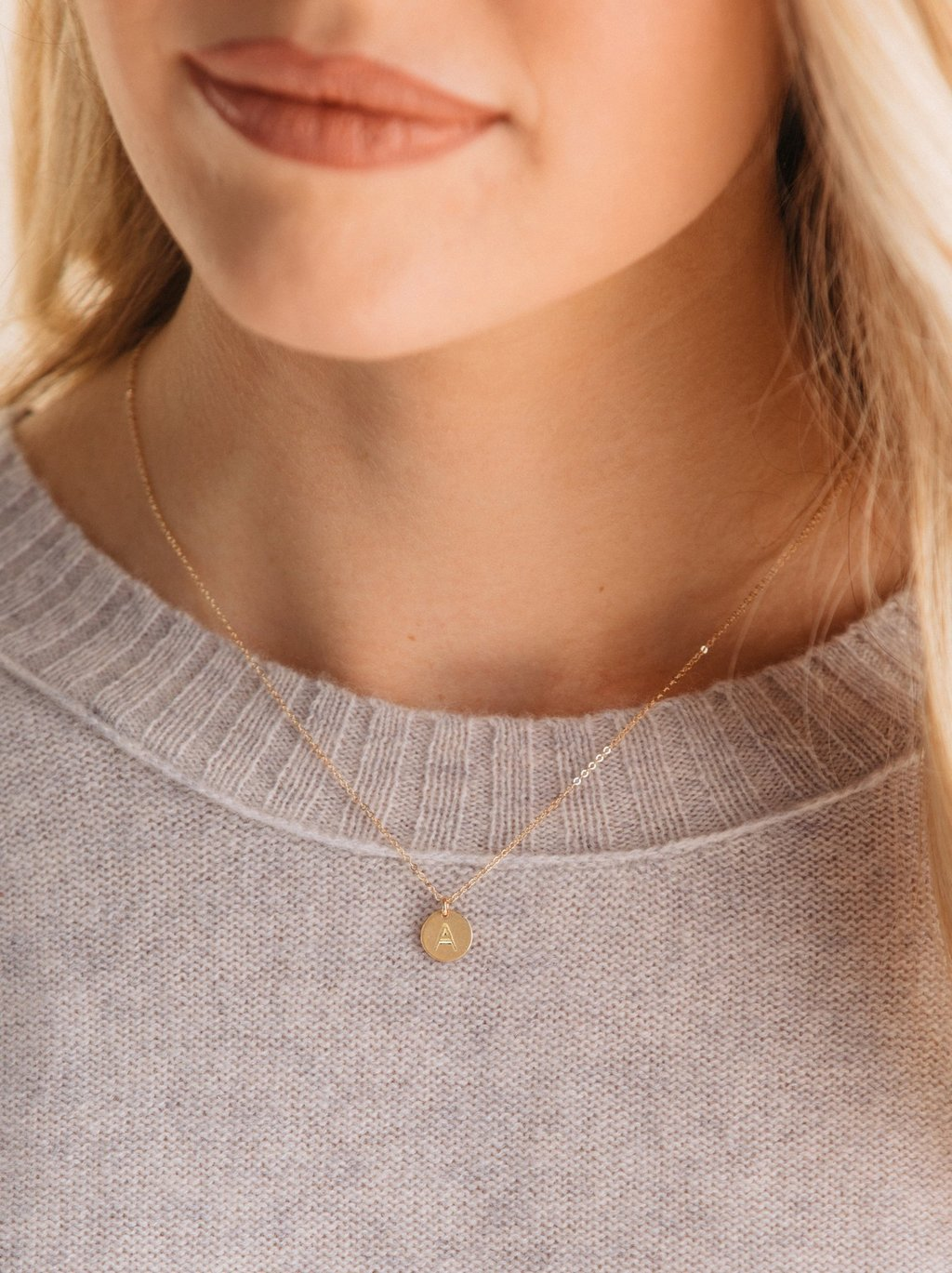 Able Tiny Tag Necklace