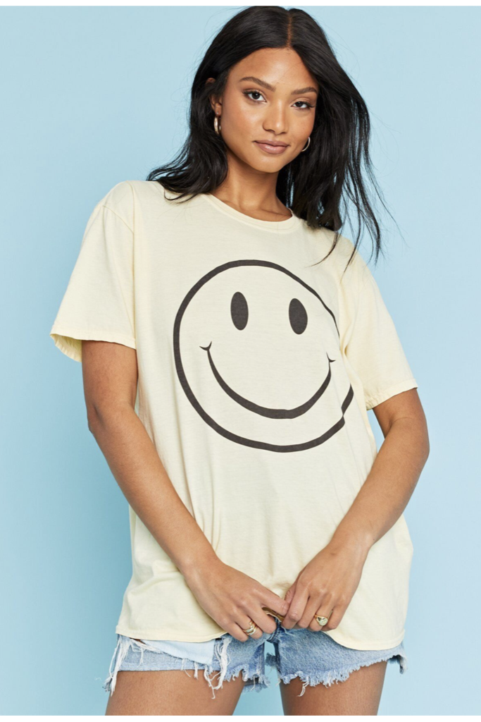 Oversized Smiley Tee