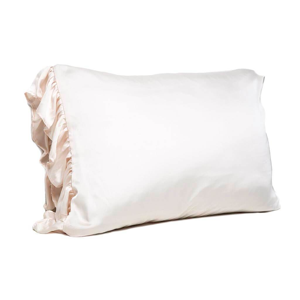 Silky Dreams Pillowcase with Ruffle